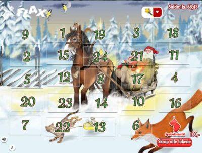 Flax julekalender er et skrapelodd som kan spilles på mobil
