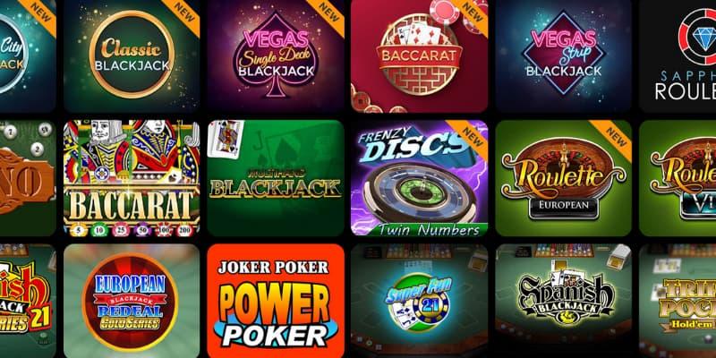 Spill rulett, blackjack, craps, baccarat og andre bordspill på Spin Million